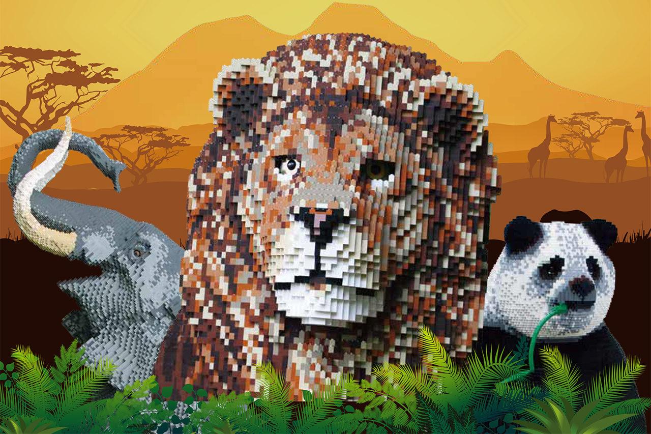 レゴブロックでリアルに再現された動物たちが登場!「BRICKLIVE® ANIMAL PARADISE in NIIGATA」開催