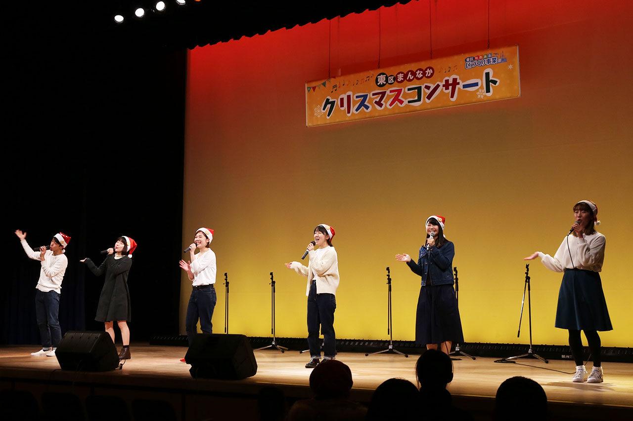 新潟県立大学と連携して内容も盛りだくさん「東区まんなかクリスマスフェスタ」開催